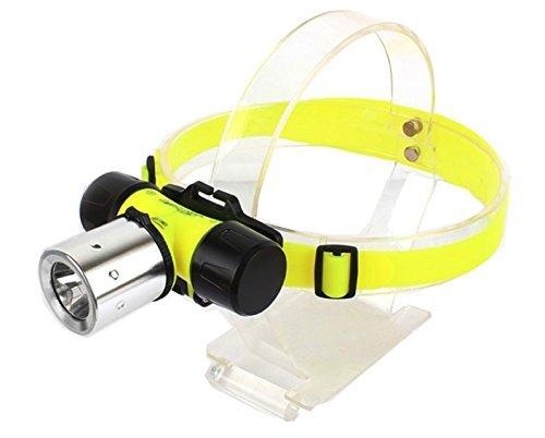 WASHODO 高輝度240LM 50M防水対応 CREE XM-L T6搭載 ダイビング用 電池式LEDヘッドライト(ライト本体+充電電池+充電器3点セット)