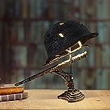 APCHY Lámpara De Reliquia De Guerra, Lámpara De Cascos, Bayonetas Y Balas Lámpara De Batalla Hecha De Cascos, Lámpara De Reliquia De Guerra Que Recuerda Esa Historia,B