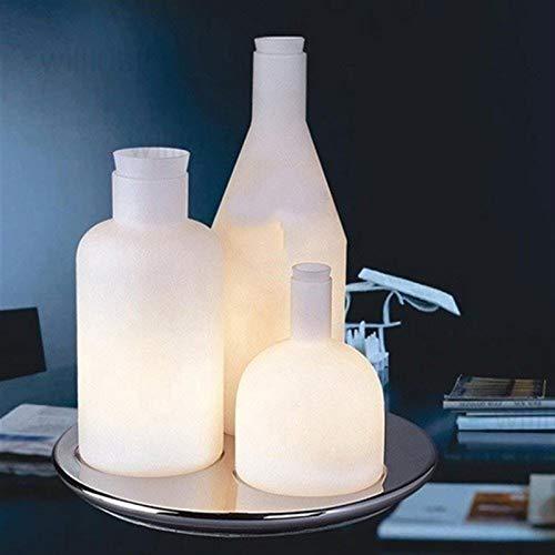 YSJJEFB Lámparas de pie 123 lámpara de Mesa de Botellas luz del Escritorio de Cristal Blanco Leche Clara sofá Lado Bacco diseño de cabecera Hotel de Moda (Lampshade Color : White)