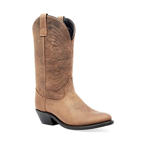 Masterson Women's Round Toe Cowboy Boot (Distressed Tan, 8.5)