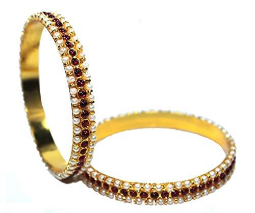 Bharatanatyam Temple Jewelry Traditional Kemp Style Bangles For