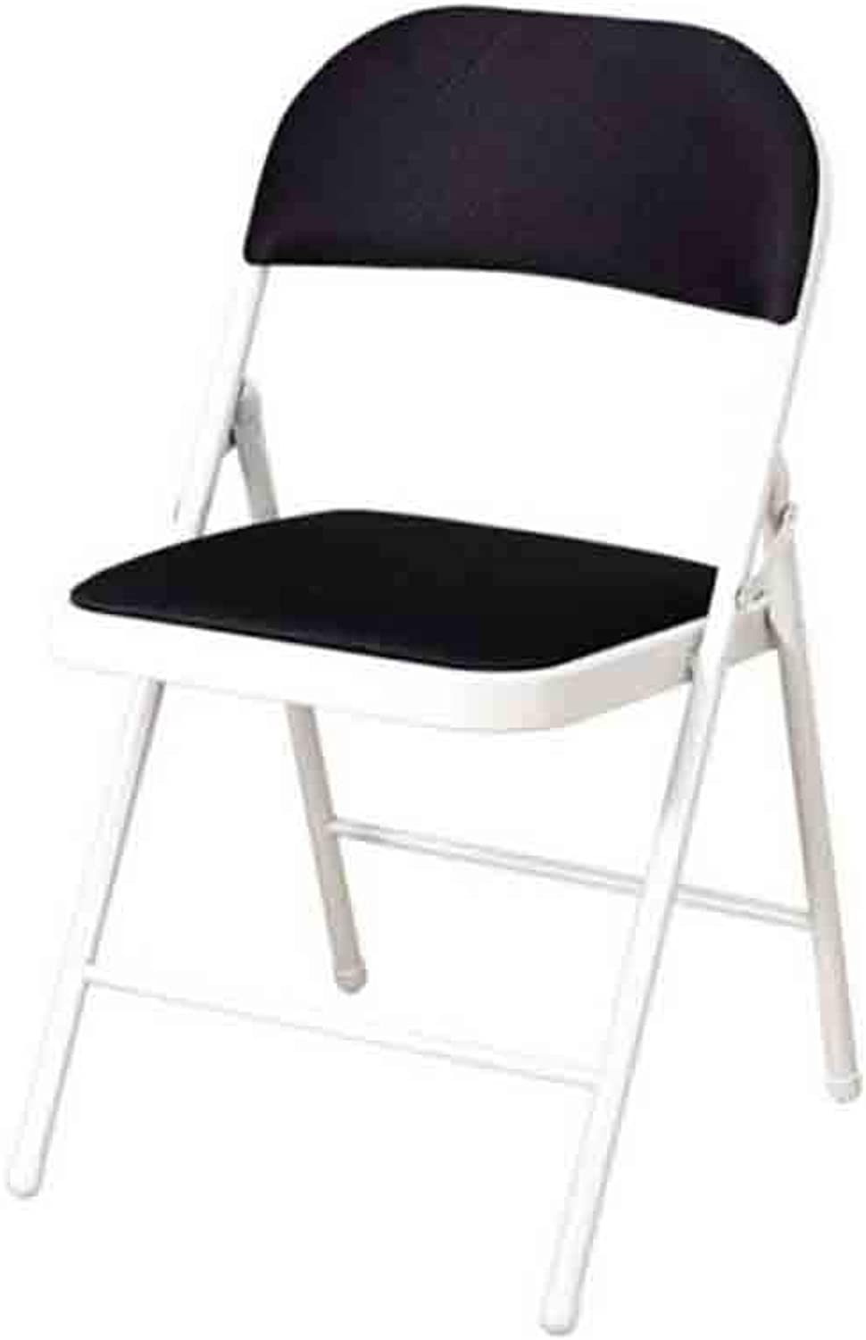 WGXX Chairs Folding Mesh Chair, Home Office Computer Chair, Conference Staff Chair (color   Black)