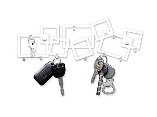 M-KeyCases Schlüsselbrett 9 Haken Home Sweet Home Metall Garderobe Schlüsselleiste Hakenleiste Schwarz Wohnaccessoires Veranda Schlüssel Deko Schild Schlüsselboard