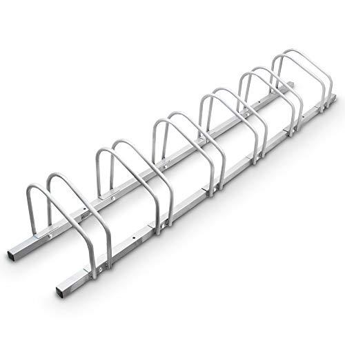 BITUXX® Fahrradständer Aufstellständer Radständer Fahrrad Bike Ständer Metall Verzinkt Platzsparend (6er Fahrradständer)