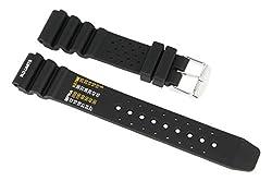 Cinturino per orologio per subacquei, sportivo, in silicone nero 20mm