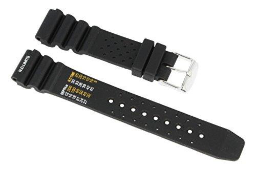 Cinturino per orologio per subacquei, sportivo, in silicone nero 22mm