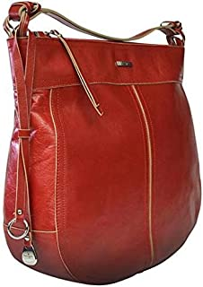 Kaizer KNI1871RED Shoulder Bag for Women - Leather, Red