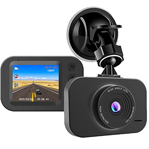 "Silintion Dash Cam【2020 New Version】 Dash Camera for Cars Dashboard Camera Recorder 1080P FHD DVR 2"" IPS Screen 140° Wide Angle, Super Night Vision, G-Sensor, WDR, Parking Monitor, Loop Recording"