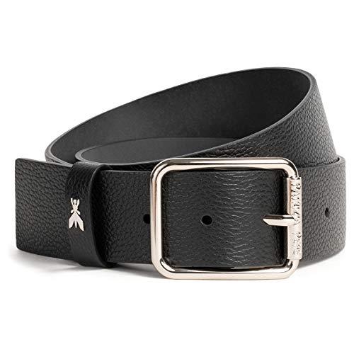 Patrizia Pepe Gürtel aus genarbtem Leder M schwarz