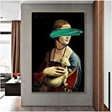MXXC Poster Kunstwerke Leardo Da Vinci Die Dame mit