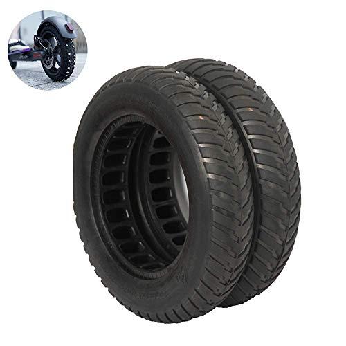 aipipl Neumáticos 10X2.125 Antideslizantes Resistentes al Desgaste, absorción de Impactos Huecos, neumáticos sólidos sin Mantenimiento, 2 Piezas duraderos Resistentes