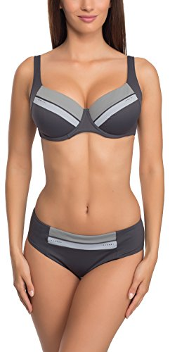 Feba Figurformender Damen Bikini 1N172LL (Graphite, Cup 80 G/Unterteil 40)