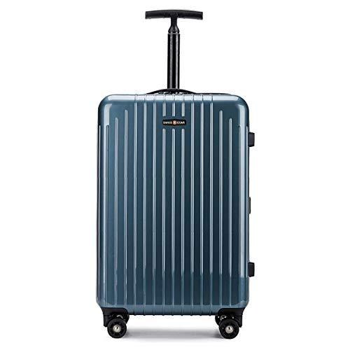 XIANGSHAN Estuche de Trolley con Marco de Aluminio for PC, Elegante Estuche de Trolley de diseño Conveniente de 1 Pieza, 20, 24 Pulgadas Azul Cielo (Size : 24inch)