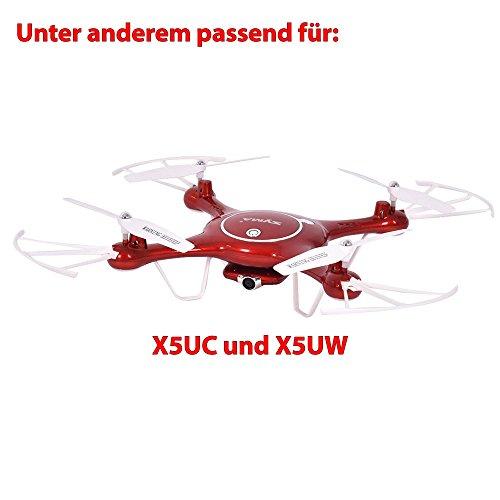 HSP Himoto 3.7V 500mAh original LiPo Power Akku für Syma X5UC und X5UW Quadcopter, Ersatzteil, Ersatzakku (Rot)