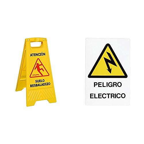 WOLFPACK LINEA PROFESIONAL 15050430Cartel Atencion Suelo Mojado 64x30 cm + 15050515 Cartel...