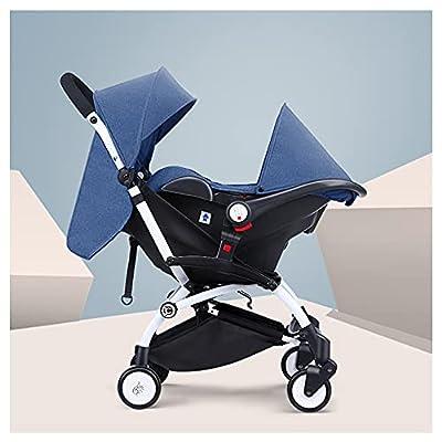 VIVIANSHOP Carrera portátil del Coche del Asiento del niño del automóvil del transportista para bebé para el Coche del bebé recién Nacido Blue