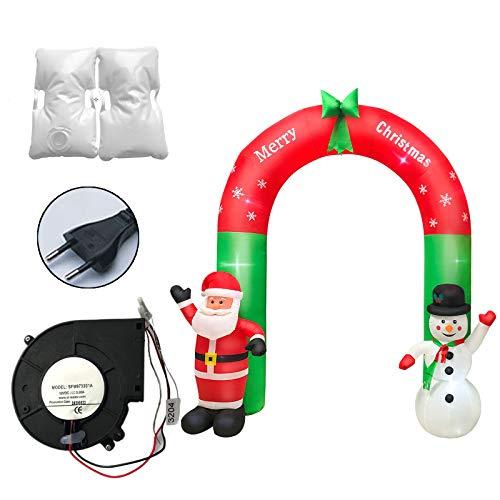 R1vceixowwi 240 cm de Navidad inflable LED Papá Noel, muñeco de nieve, arco, decoración, juguete para exteriores, para decoración interior y exterior.