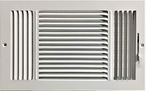 HBW 14'x 8' (Duct Opening Size) 3-Way Stamped Face Steel Ceiling/sidewall Air Supply Register - Vent Cover - Actual Outside Dimension 15.75' X 9.75'