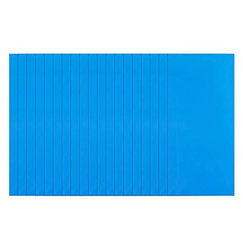 Qiujing 2/10/20 parches de reparación autoadhesivos, cuadrados, azul, para reparación de barcos,...