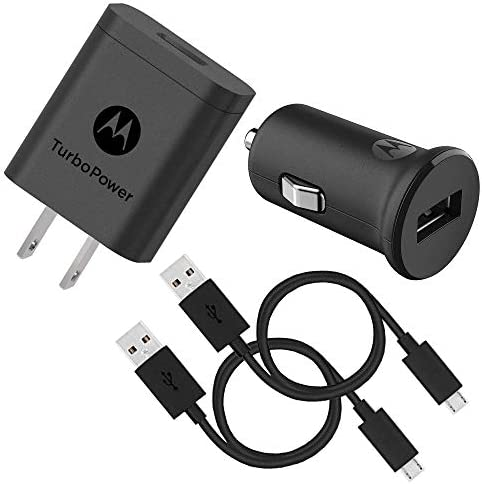 Motorola TurboPower 18 QC3 0 Micro USB Bundle TurboPower 18 Car Wall Chargers with 2 SKN6461A product image