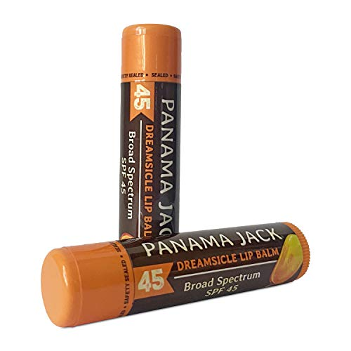 Panama Jack SPF 45 Lip Balm - Broad Spectrum UVA-UVB Sunscreen Protection, Prevents & Soothes Dry, Chapped Lips (Pack of 3, Dreamsicle)