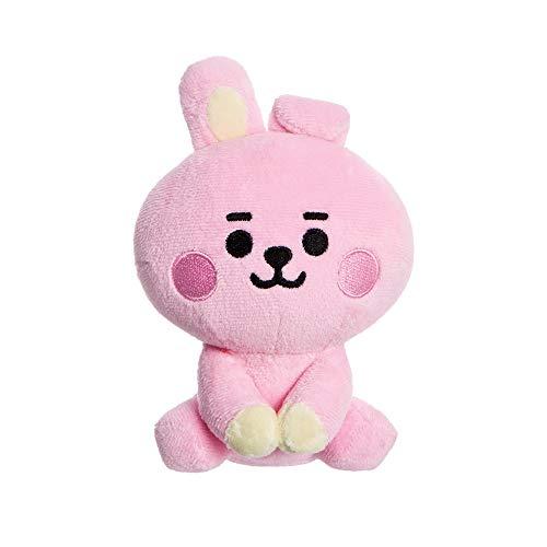 Aurora, 61373, BT21 Offizieller Merchandise, Baby Cooky sitzende Puppe, 12,7 cm, weiches Spielzeug, rosa