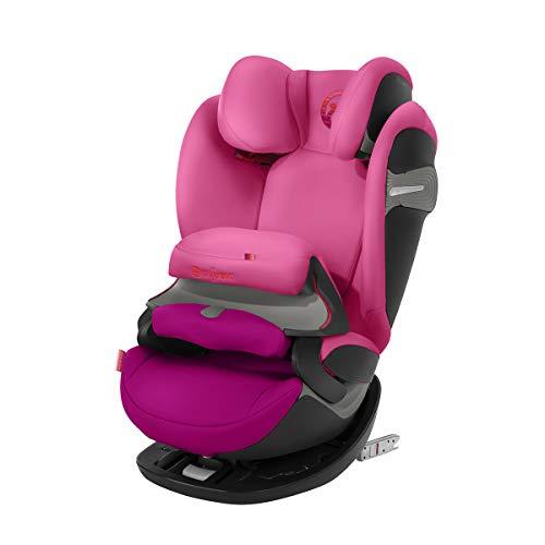 Cybex Gold Pallas S-Fix - Silla de coche 2 en 1 para coches con y sin Isofix, Grupo 1/2/3 (9-36 kg), Desde los 9 meses hasta los 12 anos aprox., Coleccion Color 2018, Rosa (Passion Pink)