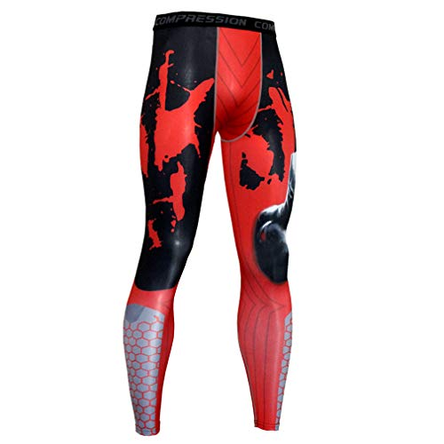 NATURET Compression Pants Baselayer Running Tights Mens Sports Cool Dry Leggings (XXL, Multicolor3)