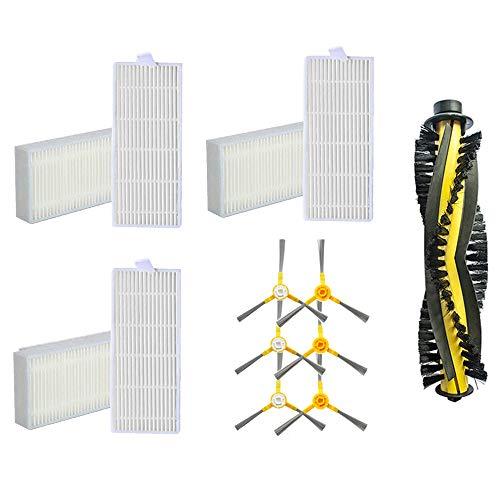 Ersatzteile Passend für Tesvor X500 X500pro X18-1 Tesvor M1 Roboter Staubsauger,6 Seitenbürste + 6 Filter + 1 Rollenzubehörsatz