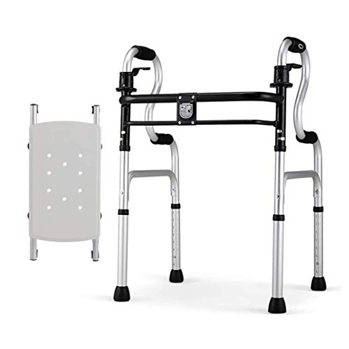 Walker For Seniors Rollator Folding Walker with Seat,Lightweight Aluminium Walking Frame for Seniors, Adults, Kids