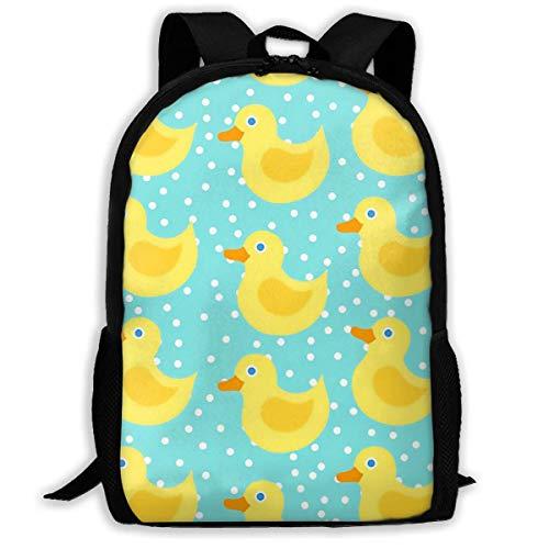 Gelbe Gummiente-Schulrucksäcke wasserdichte Schultaschen-dauerhafte Reise-kampierende Rucksäcke für Jungen und Mädchen