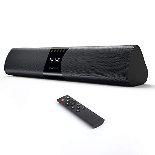 PC Soundbar, 20W Bluetooth Computer Speaker, Wired and Wireless Mini TV...