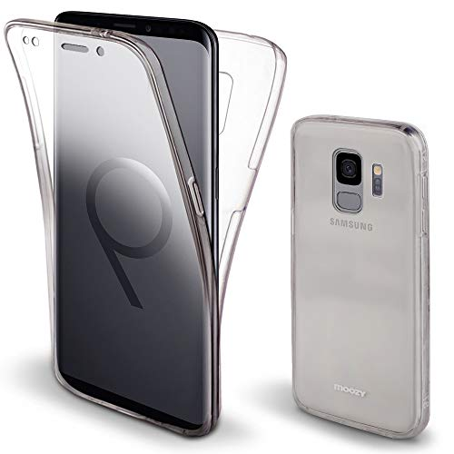 Moozy 360 Degree Case for Samsung S9 - Full Body Front and Back Slim Clear Transparent TPU Silicone Gel Cover