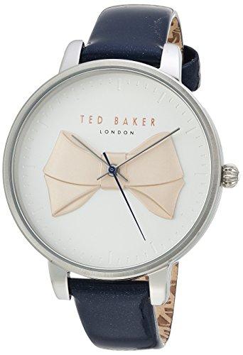Ted Baker Brook Damen-Armbanduhr, Quarz, Edelstahl und Leder, Farbe: Blau (Modell: TE15197001)
