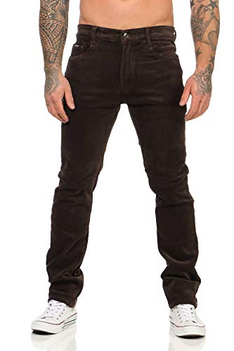 BEZLIT Herren Thermo Jeans Hose Regular Fit 22893 (46 / W36 Größe XL, Cord Braun)