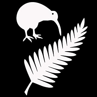 Vinyl stickers for 11.4 * 15 cm Kiwi Bird en Nieuw-Zeeland Fern Vinyl Auto Stickers Creatieve Auto Styling Decal Black/Sil...
