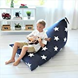 Butterfly Craze Bean Bag Chair Cover & Stuffed Animal Storage Bag - Toy Organizer & Floor Lounger in One with Extra Large Capacity & Premium Cotton Canvas (Stuffing not Included)