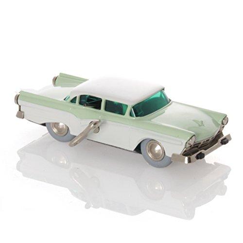 Schuco Micro Racer Ford Fairlaine lindgrün/weiß - Mechanisches Blechspielzeug