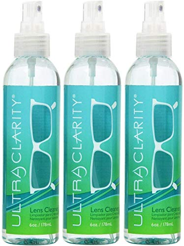 Ultra Clarity Eyeglass Cleaning 6 oz Spray Bottle, 3 Pack