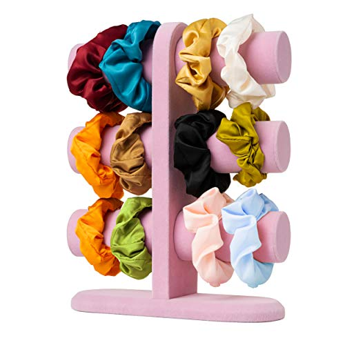 brantics Scrunchie Holder Stand | Bracelet Holder and Hair Accessories Organizer – Great for Scrunchies, Hair Ties & Jewelry Display | Perfect VSCO Room Décor (Pink)