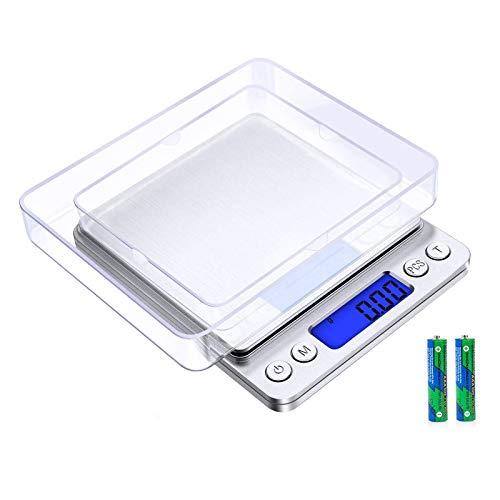 Vineco Cuisine 500g / 0.01g Poche/Balance de Bijoux en Acier Inoxydable échelle électronique de Haute précision rétroéclairé LCD