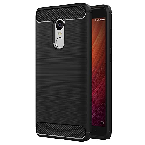 AICEK Cover Xiaomi Redmi Note 4, Nero Custodia Xiaomi Note 4 Silicone Molle Black Cover per Xiaomi Note 4 Soft TPU Case