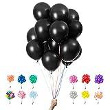 Globos Negros para Fiestas de Cumpleaños 100% Puro Látex Natural 12' Calidad Premium Paquetes de 25 50 100 Decoraciones perfectas para cumpleaños, baby showers, bodas y bautizos.