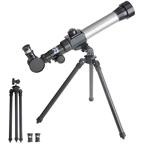 Telescópios para Astronomia para Iniciantes-20X / 30X / 40X Telescópio Astronômico com Tripé Ajustável Telescópio Refrator de 60Mm para Brinquedos Educativos de Astronomia para Primeiros Socorros