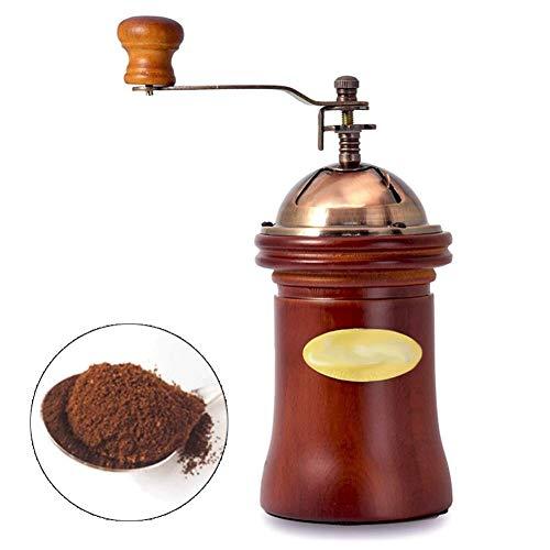 LYYJIAJU handmatige koffiemolen, houten koffiemolen met keramische brander, gietijzeren handkruk, draagbare mini-koffiemolen voor camping en thuis