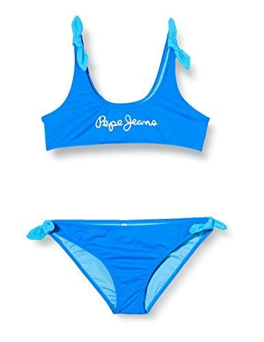 Pepe Jeans Mädchen New Saigon Bikini Taillenslip, Blau (554 554), 5-6 Alter (Herstellergröße: 6)