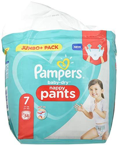 Pampers Baby-Dry Hose Größe 7 Windeln - 1990 g