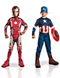 confezione di due costumini Età minima: 3 anni originale riproduzione dei personaggi Marvel Capitan America  e Ironman