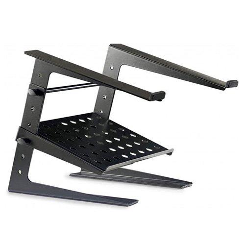 Stagg 22224 Solid Verstelbare DJ Pro Laptop Stand Stand met lagere steunplaat