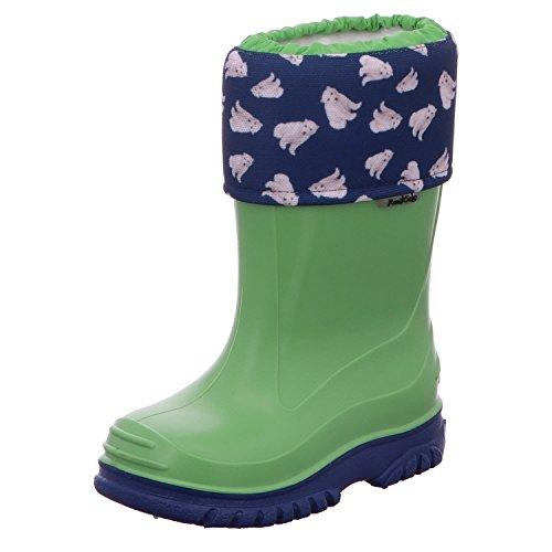 Romika Eisbär, Boots mixte enfant, Vert (Lime-Blau 646), 20 EU (3.5 Kinder UK)